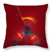 Passion In Red Throw Pillow