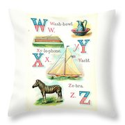 Patriot Abc Book  Page Twelve Throw Pillow