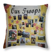Patriotic Collage St. Helen Of The Cross Catholic Church Eloy Arizona 2004 Throw Pillow