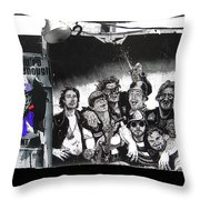 Patriotic Posters Midway Arizona State Fair Phoenix 1967 Collage Color Added 2012 Throw Pillow