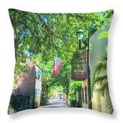 Patriotic Street Throw Pillow