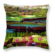 Patterns Of Shadow And Sunlight Throw Pillow