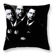 Paul Johnson In Triplicate Collage Minneapolis Minnesota 1966-2012 Throw Pillow