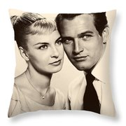 Paul Newman And Joanne Woodward In The Long Hot Summer 1958 Throw Pillow