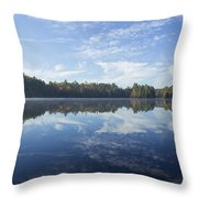 Pauper Lake Reflections Throw Pillow