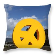 Peace From The Oakland Museum . Oakland California . 7d13411 Throw Pillow