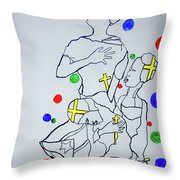 Peace The Inner Message Poster South Sudan Throw Pillow
