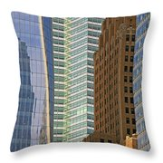 Peace Tower Abstract Throw Pillow
