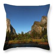 Peaceful Merced River Throw Pillow