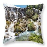Pearl Shoal Waterfall Throw Pillow