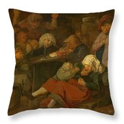 Peasant Party Drink Throw Pillow