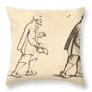 Peasant With Hat In Hand Throw Pillow