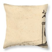 Peasant With Shovel On His Shoulder Throw Pillow