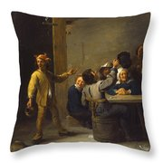 Peasants Celebrating Twelfth Night Throw Pillow