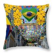 Pelourinho - The Historic Center Of Salvador Throw Pillow