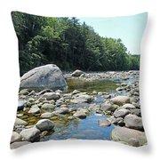 Pemmigewasset River Throw Pillow