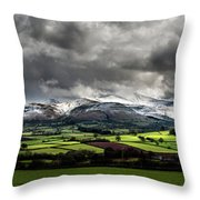 Pen Y Fan And Brecon Beacons Panorama Throw Pillow