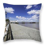 Penarth Pier 4 Throw Pillow