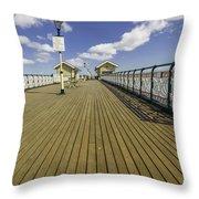 Penarth Pier 7 Throw Pillow