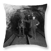 Pennsylvania: Coal Mine Throw Pillow
