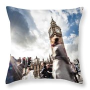 People Crossing In Central London Throw Pillow