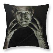 People- Frankenstein's Monster Throw Pillow