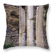 Pergamon Asklepion Colonnade Throw Pillow