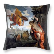 Perseus Rescuing Andromeda Throw Pillow