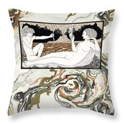 Personages De Comedie Throw Pillow