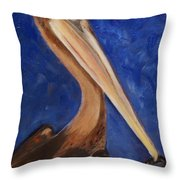 Pete Pelican Throw Pillow