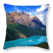 Peyto Lake, Banff National Park Throw Pillow