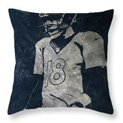 Peyton Manning Broncos Throw Pillow