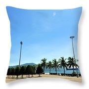 Pham Van Dong Beach Throw Pillow