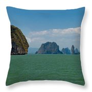 Phang Nga Province Of Phuket Thailand Throw Pillow