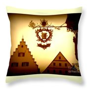 Pharmacy Sign In Rothenburg Throw Pillow