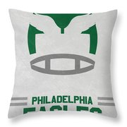 Philadelphia Eagles Vintage Art Throw Pillow