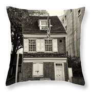 Philadelphia - The Betsy Ross House Throw Pillow
