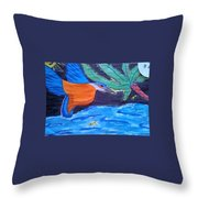 Philippine Kingfisher Painting Contest 1 Throw Pillow