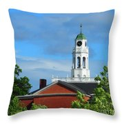 Phillips Exeter Academy Main Building Throw Pillow
