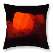 Phosphorescent Calcite Crystal Throw Pillow