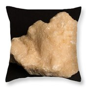 Phosphorescent Calcite On Fossilized Throw Pillow