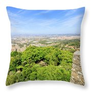 Photographer At Moorish Fortress Throw Pillow