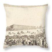 Piazza Santa Croce, Florence Throw Pillow