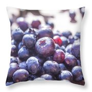 Picking Huckleberries Throw Pillow