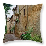 Pienza Street Throw Pillow