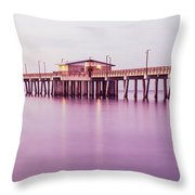 Pier In The Sea, Gulf State Park Pier Throw Pillow