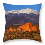 Pike's Peak And Garden Of The Gods Throw Pillow