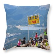 Pikes Peak Marathon And Ascent Throw Pillow
