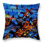 Pin Oak Leaves Throw Pillow