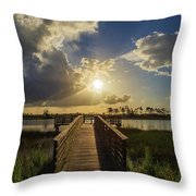 Pine Glades Sunset Throw Pillow